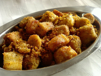 Chamadumpa Kobbari Vepudu ~ Taro Root and Coconut Fry