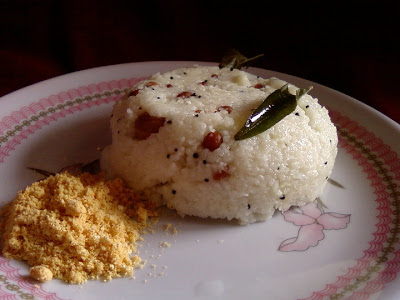 Biyyapuravva Majjiga Upma ~ Cracked Rice and Buttermilk Upma