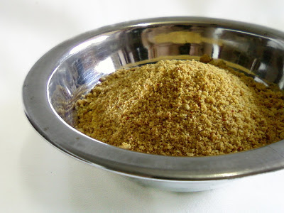 Kandi Kobbari Podi ~ Spicy Toor Dal and Coconut Powder