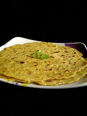 Sweet Corn Paratha / Roti Recipe