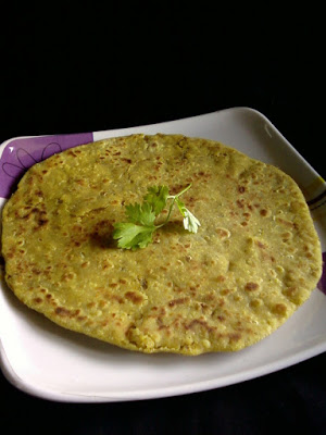 Sprouted Red Cow Peas Paratha