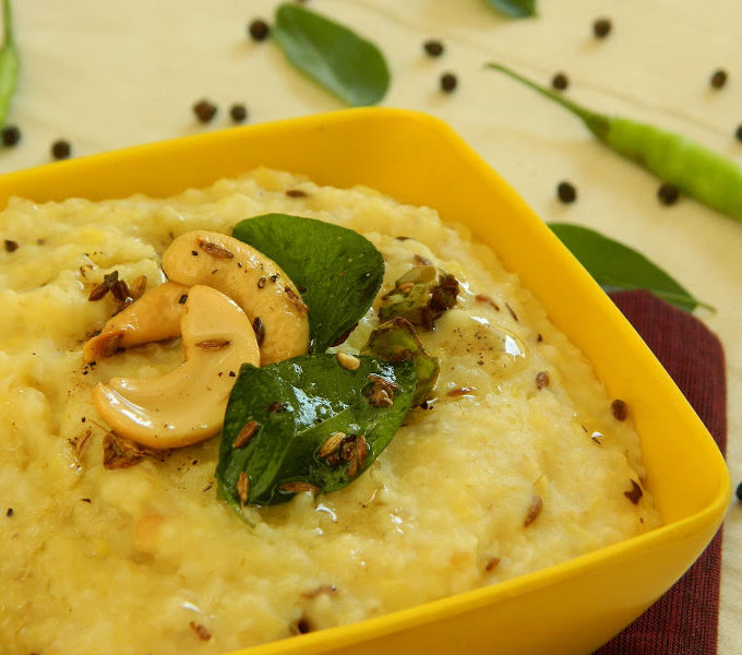 Broken Wheat Pongal Recipe