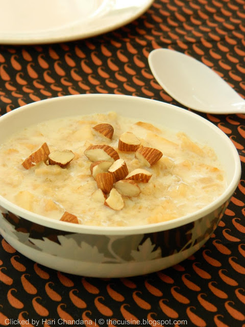 Apple and Oats Porridge Recipe