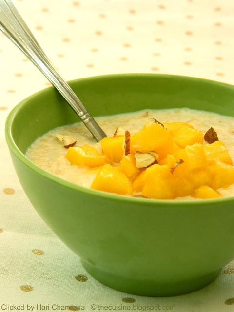 Mango and Oats Porridge Recipe