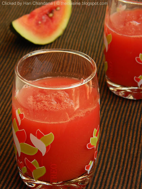 Fresh Watermelon Juice ~ Summer Coolers