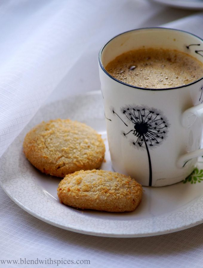 Wheat Coconut Cookies Recipe – Eggless Coconut Biscuits Recipe – Christmas Cookies Recipes