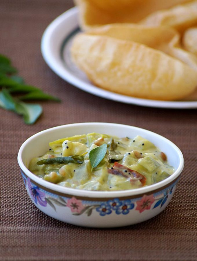 Sorakaya Palu Posina Kura ~ Andhra Bottle Gourd Curry with Milk