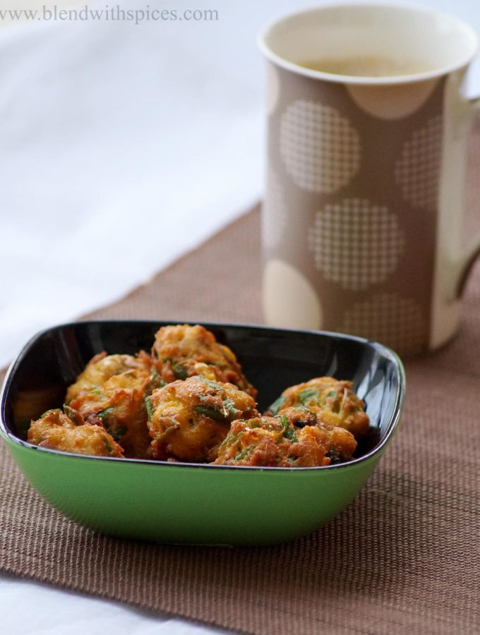 Sweet Corn and Amaranth Leaves Fritters Recipe