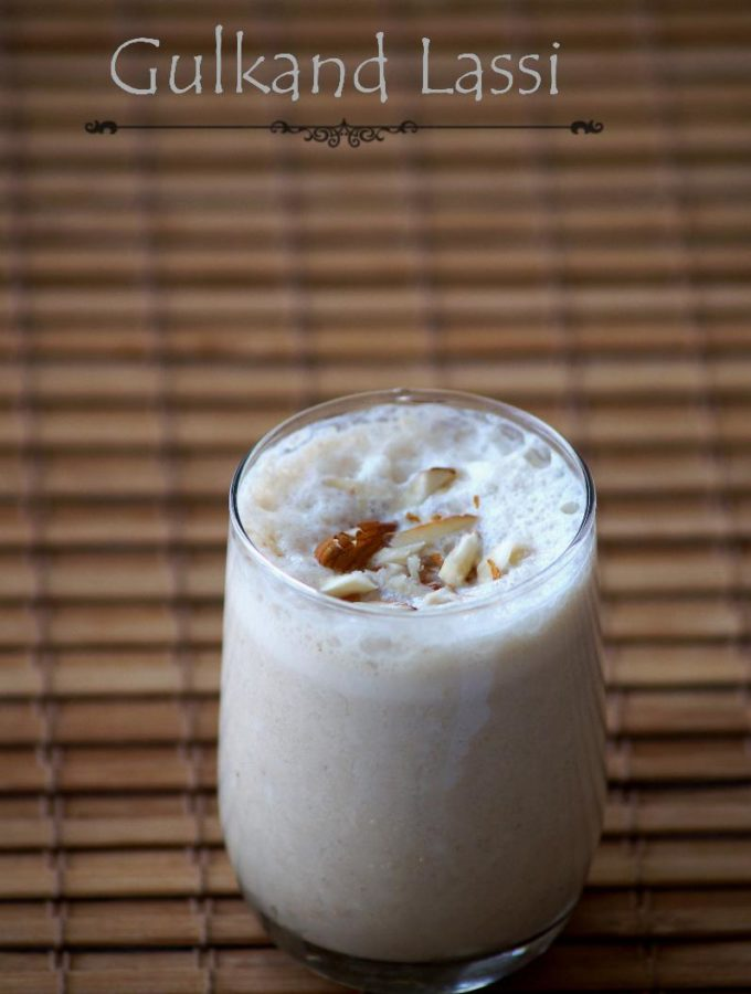 Gulkand Lassi Recipe – Indian Rose Petal Jam Lassi – Gulkand Recipes – Summer Drinks
