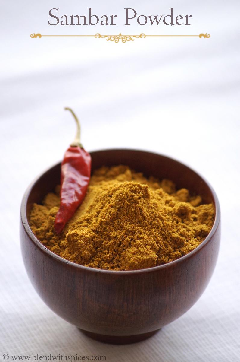Tamil Sambar Powder RecipeHomemade Sambar Powder Recipe