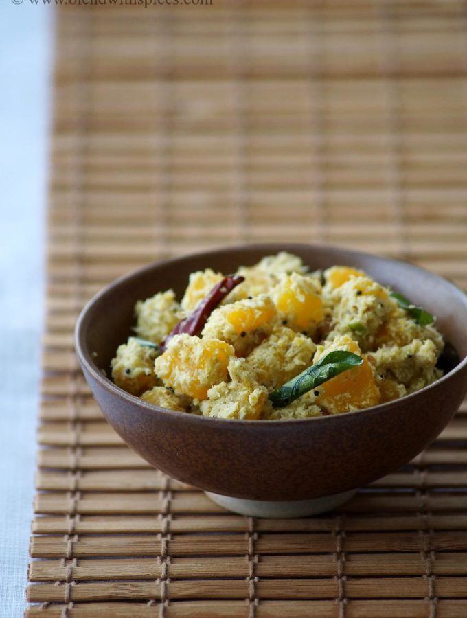 Mathanga Thoran Recipe – Kerala Style Pumpkin Curry – Onam Sadya Recipes