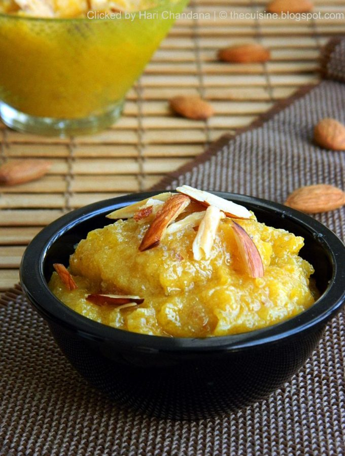 Gummadikaya Halwa – Pumpkin Halwa – Step by Step Recipe