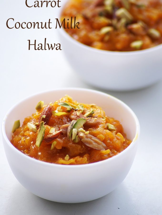 Carrot Coconut Milk Halwa Recipe – How to make Carrot Halwa with Coconut Milk – Holi Special Recipes