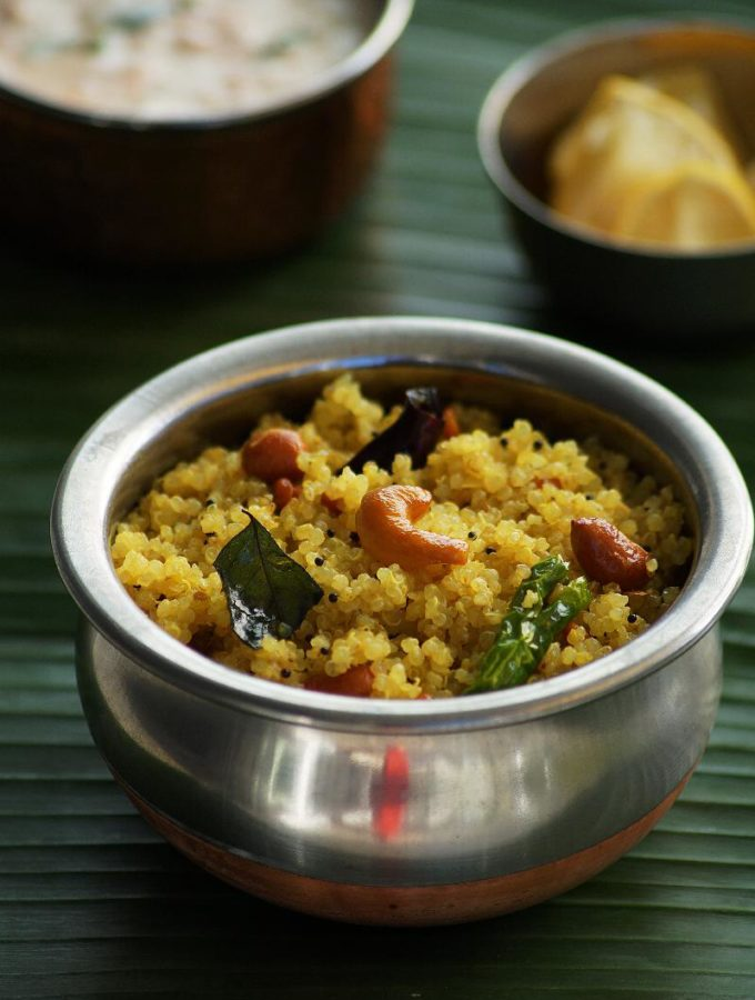 Lemon Quinoa Recipe – How to Make Quinoa Lemon Pulihora Recipe