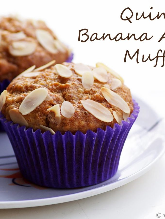 Eggless Quinoa Banana Almond Muffins Recipe – How to make Quinoa Muffins