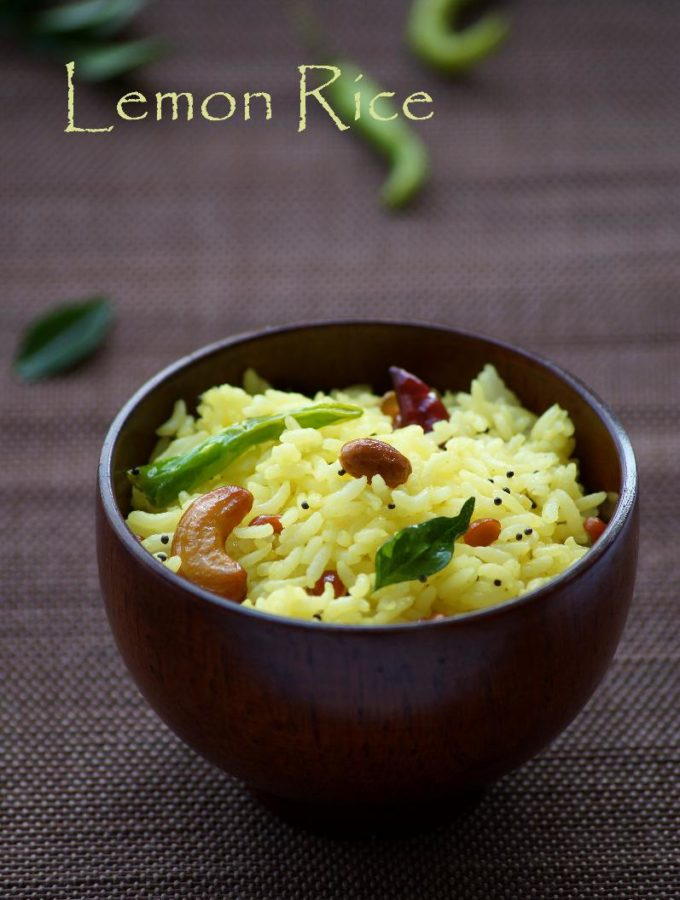 Lemon Rice Recipe – Nimmakaya Pulihora Recipe – Chitranna Recipe – South Indian Recipes