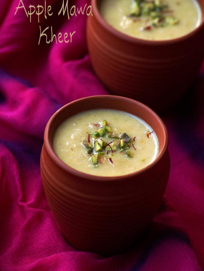 apple khoya kheer recipes, indian kheer recipes, holi sweets